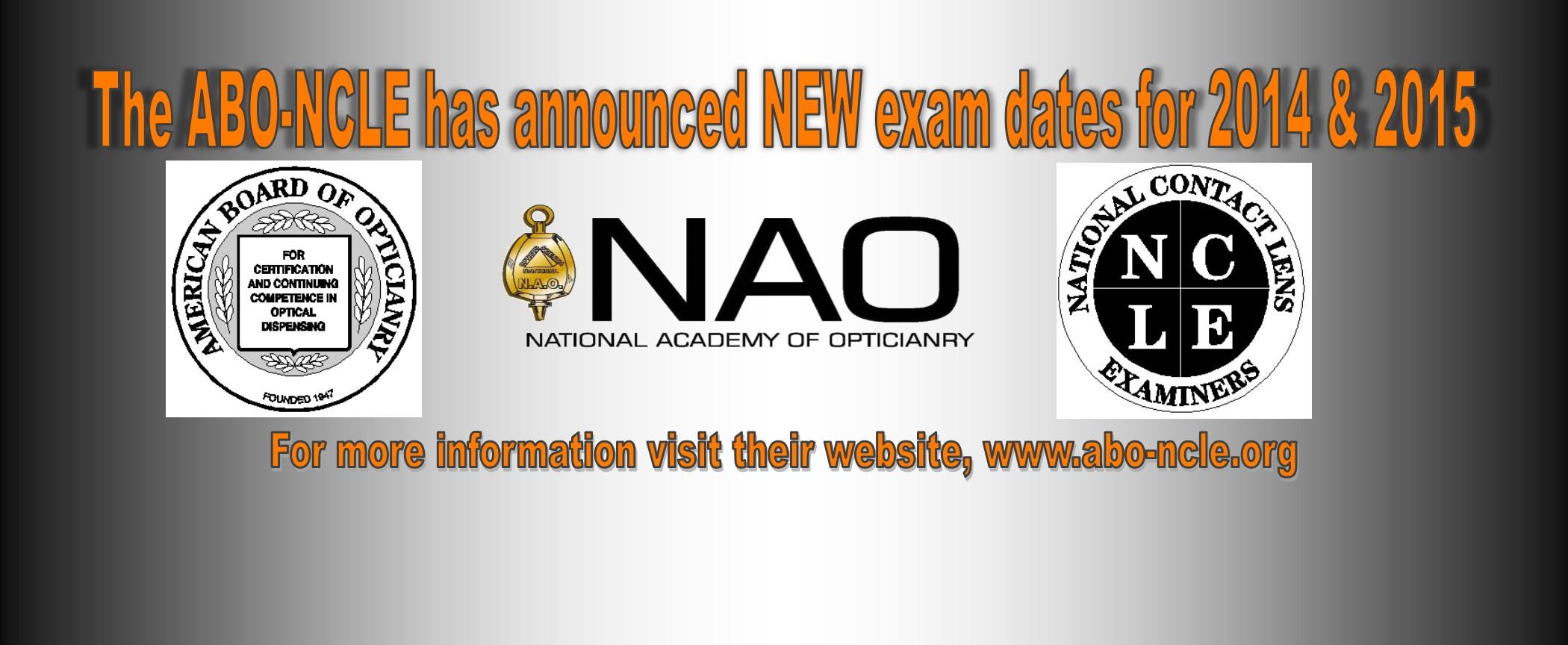 ABO-NCLE-Exam-Dates